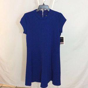 NWT Julian Taylor Blue Fit & Flare Dress